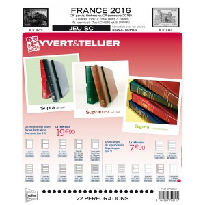 Nouveauté Jeu Yvert et Tellier France SC 2ème semestre 2016