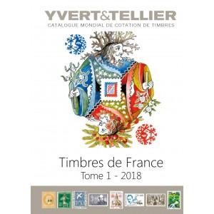 Nouveauté Catalogue Yvert et Tellier des Timbres de France 2018 Tome 1