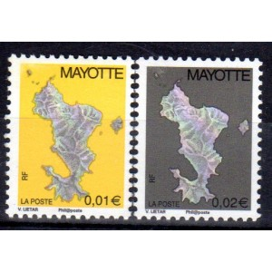 Timbre Mayotte n°150a et 151a