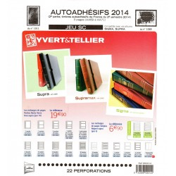 Jeu Yvert et Tellier France Autoadhésifs SC 2ème semestre 2014