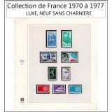 Timbre Collection de France 1970 à 1977 complet LUXE, NEUF SANS CHARNIERE**