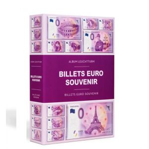 """Classeur pour 420 Billets Touristiques """"Euro Souvenir"""""""