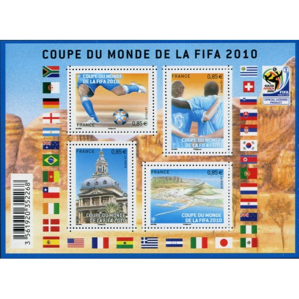 France feuille n 4481 coupe du monde de football 2010 en afrique du sud chez philarama37 - Coupe du monde 2010 lieu ...