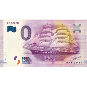 Billet touristique zéro euros - Le Belem 120 ans
