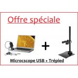Offre TOP: Microscope Digital USB + Trépied - LEUCHTTURM