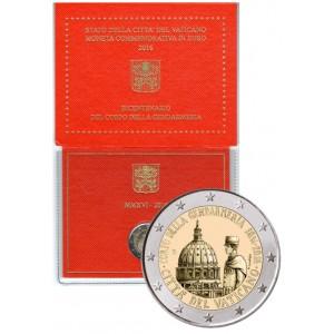 Coffret BU 2 euros commémorative Vatican 2016 Anniversaire Corps de Gendarmerie