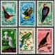 Timbre Nouvelle Calédonie n°345 à 350 Oiseaux