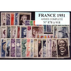 Timbres France 1951 année...