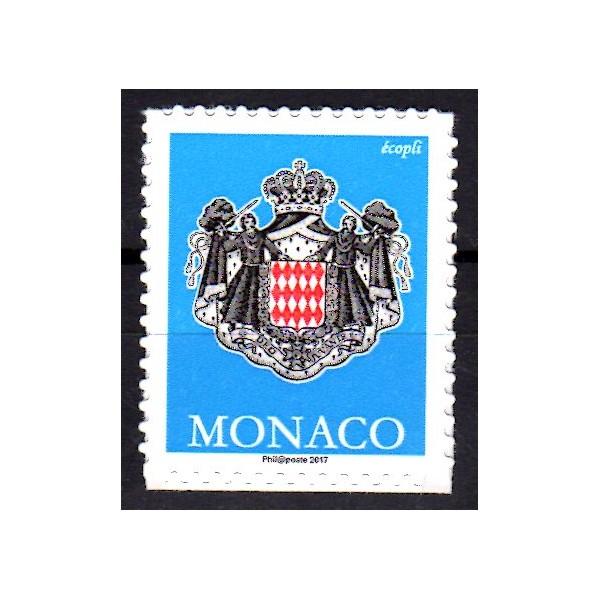 timbre monaco 2017 armoiries chez philarama37. Black Bedroom Furniture Sets. Home Design Ideas