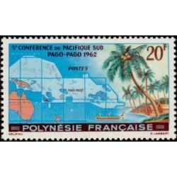 Timbre Polynésie n°17 5ème...