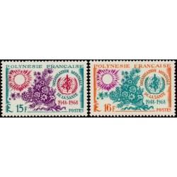 Timbre Polynésie n°60 et 61...