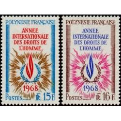 Timbre Polynésie n°62 et 63...