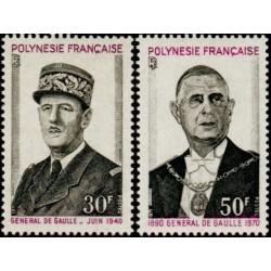 Timbre Polynésie n°89 et 90...