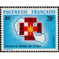 Timbre Polynésie n°91 2ème...