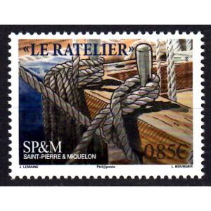 Timbre Saint-Pierre et Miquelon n°1184 Vieux gréements