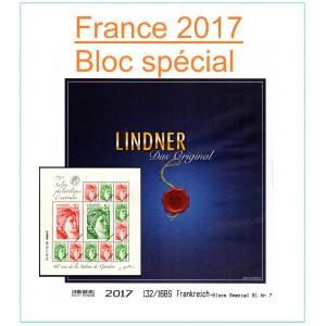 """Nouveauté Jeu France Lindner Bloc """"71ème Salon Philatélique d'Automne"""" 2017"""
