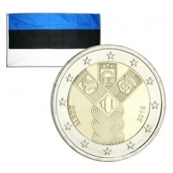 2 Euros commémorative Estonie 100 ans Etats Baltes 2018
