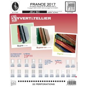 Jeu Yvert et Tellier France SC 2ème semestre 2017
