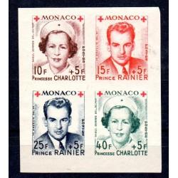 Timbre Monaco n°334B à 337B...