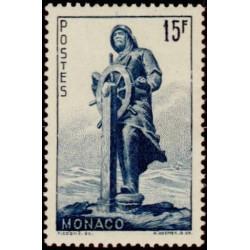 Timbre Monaco n°351 Mémoire...