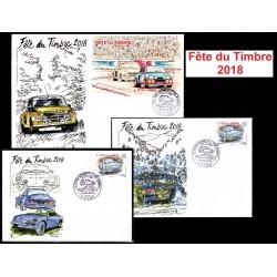 Lot des 3 Souvenirs philatéliques FFAP Carte et Enveloppes Fête du timbre 2018