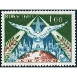 Timbre Monaco n°610 21ème...