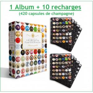 Promo Album Grande Champ pour 210 plaques de muselets + 5 recharges - Leuchtturm