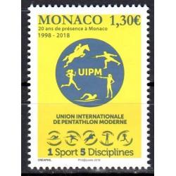 Timbre Monaco n°3158 20 ans...