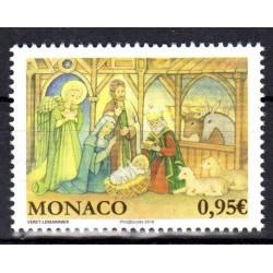 Timbre Monaco n°3163 Noël 2018