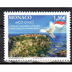 Timbre Monaco n°3162 Chants...