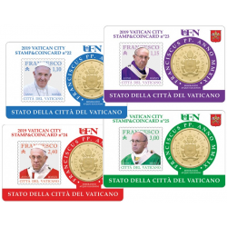 Stamp and Coin Card Vatican...