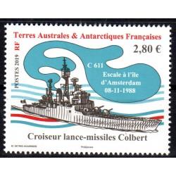 Timbre TAAF n°886 Croiseur...