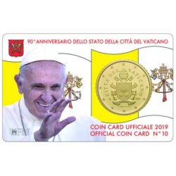 Vatican Coin Card n°10 2019...