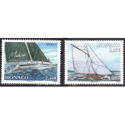 Timbres Monaco n°3160 et 3161 Yachting