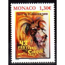 Timbre Monaco n°3164 43ème...