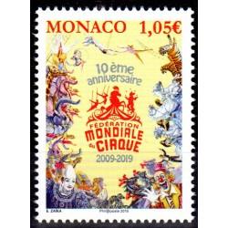 Timbre Monaco n°3165 10ème...