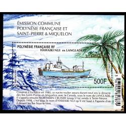 Timbre Polynésie Bloc...