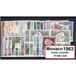 Timbres Monaco 1963 année...