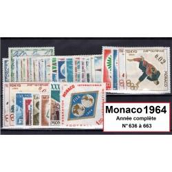 Timbres Monaco 1964 année...