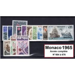 Timbres Monaco 1965 année...