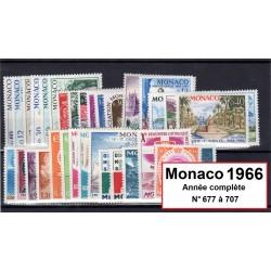 Timbres Monaco 1966 année...