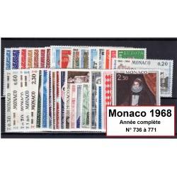 Timbres Monaco 1968 année...