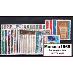 Timbres Monaco 1969 année...