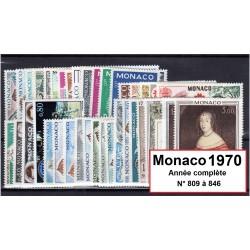 Timbres Monaco 1970 année...