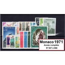 Timbres Monaco 1971 année...