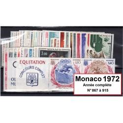 Timbres Monaco 1972 année...