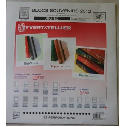 Jeu Blocs Souvenirs SC 2012