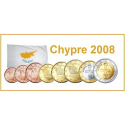 Série 8 pièces Chypre 2008
