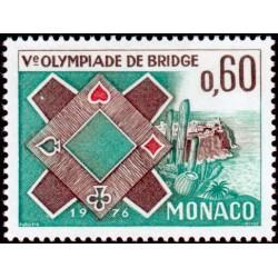 Timbre Monaco n°1052 5ème...