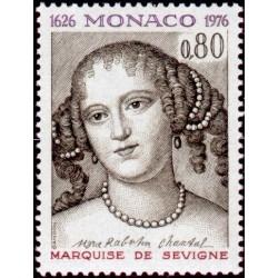 Timbre Monaco n°1068 Marie...